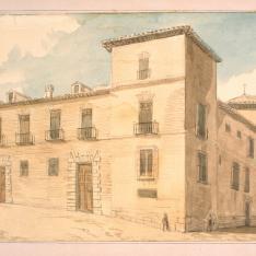 Palacio del Infantado en la plazuela de la Paja de Madrid