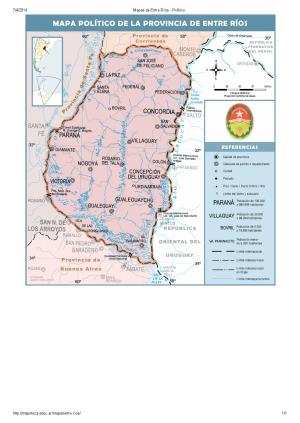 Mapa de capitales de Entre Ríos. Mapoteca de Educ.ar