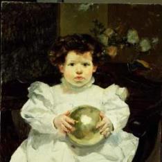Joaquín con una bola