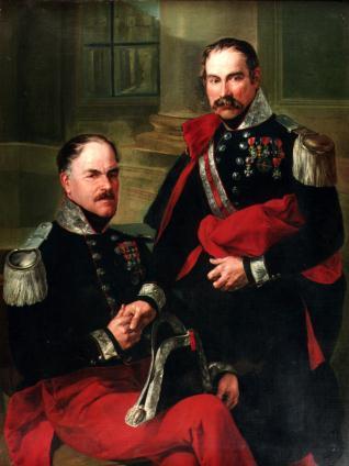 Los alabarderos José Díaz y Francisco Torán