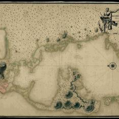 Plano de la Cyudad y Bahya de Cartagena de las Yndias