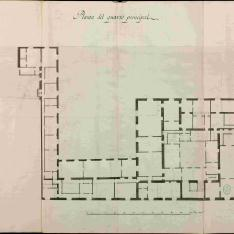 Dibujos de una Casa propia del Exmo. Sor. Marques de Sta. Cruz, sita en esta Corte en la Calle de las Rejas