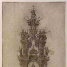 Proyecto para el baldaquino de la capilla de San Isidro, en la Iglesia de San Andrés de Madrid