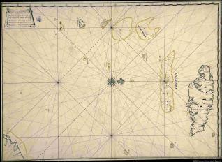 Carta sepherica de La Travesia desde Cartagena Al Montar La Ysla de La Jamaica