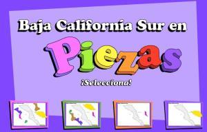 Municipios de Baja California Sur. Puzzle. INEGI de México