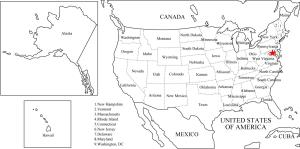 Mapa de estados de Estados Unidos. Freemap