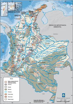 Mapa ambiental de Colombia. IGAC
