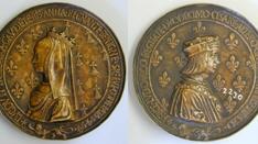 Medalla de Luis XII Rey de Francia y Ana de Bretaña