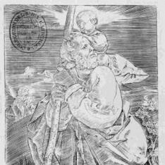 San Cristobal mirando hacia la izquierda