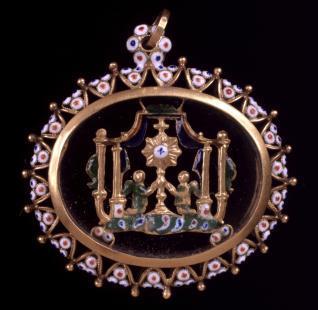 Medallón de tipo Sagrament o altaret