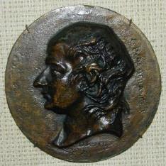 Medallón con el Retrato de J.P de Beranger