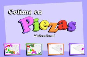 Municipios de Colima. Puzzle. INEGI de México