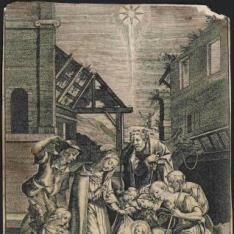 La Natividad y adoración de los pastores
