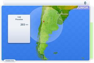 Ciudades de Argentina Junior. Juegos Geográficos