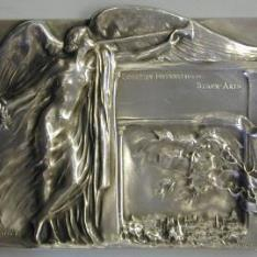 Medalla conmemorativa de la Exposición Internacional  de Bellas Artes de Bruselas celebrada en 1897