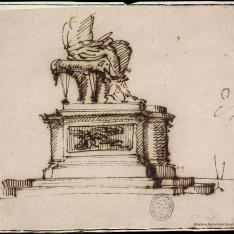 Pedestal para escultura sedente