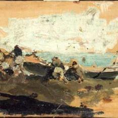 Sacando las barcas, Nápoles