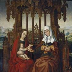 Santa Ana, el Niño Jesús y la Virgen