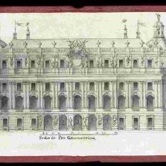 Fachada principal del proyecto para el Palacio Real nuevo de Madrid