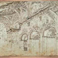Ruinas del interior de la iglesia del Carmen, Zaragoza