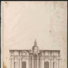 Sección interior de un templo