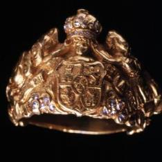 Anillo de proclamación de Isabel II como Princesa de Asturias