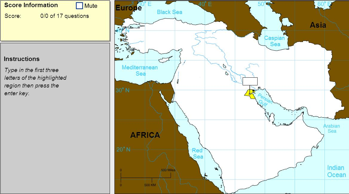 Countries of Middle East. Expert. Sheppard Software