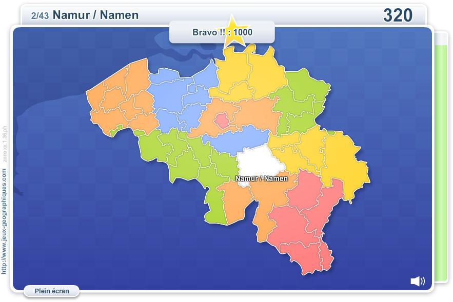 Arrondissements de Belgique. Jeux géographiques