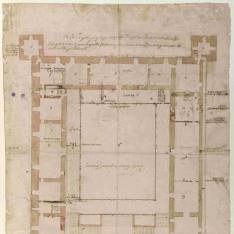 Planta del piso principal del Alcázar de Toledo