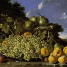 Frutero: uvas, peros, melocotones y ciruelas