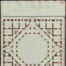 Planta de palacio de patio octogonal