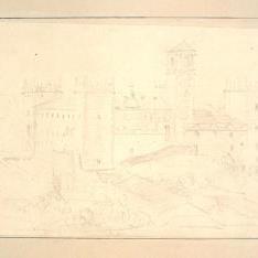 Vista exterior de un castillo