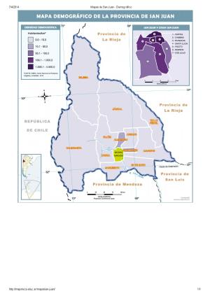 Mapa demográfico de San Juan. Mapoteca de Educ.ar
