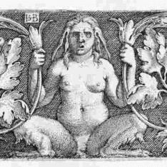 Ornamento con 3 sátiros