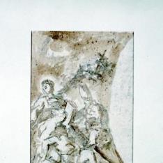 Descendimiento de la cruz. Boceto para techo