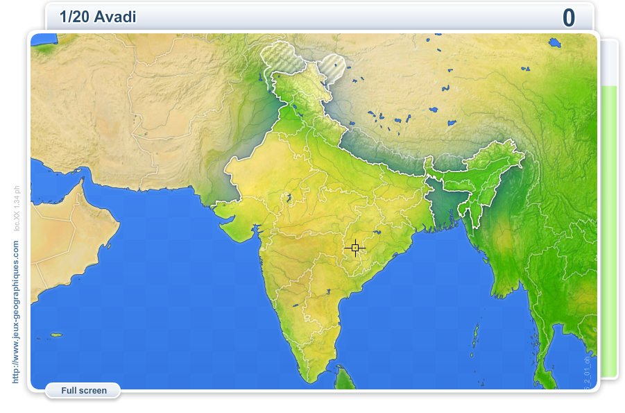 Cities of India . Geography map games