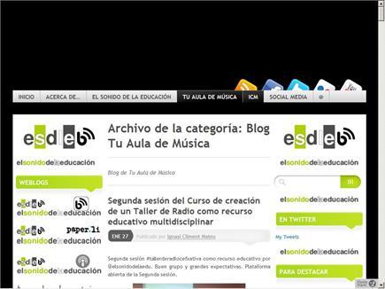 EL SONIDO DE LA EDUCACIÓN, TUAULA DE MÚSICA