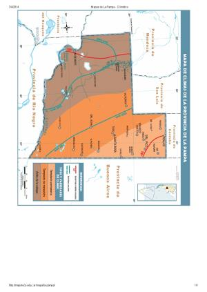 Mapa climático de La Pampa. Mapoteca de Educ.ar