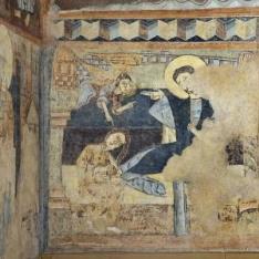 La Magdalena. Pintura mural de la Iglesia de la Vera Cruz de Maderuelo.