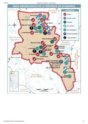Mapa arqueológico de Catamarca. Mapoteca de Educ.ar