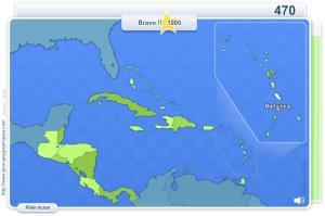 Pays d'Amérique Centrale. Jeux géographiques