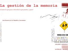 LA GESTIÓN DE LA MEMORIA