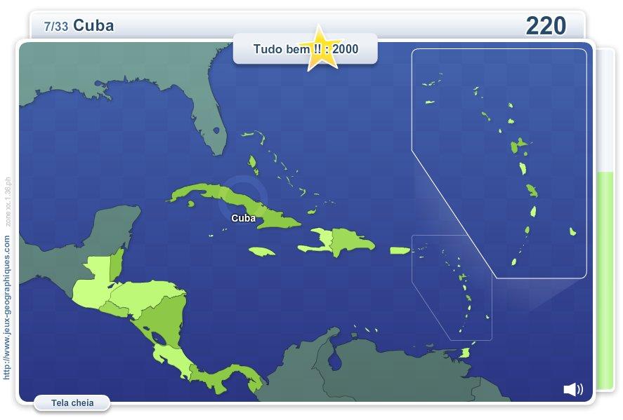 Geo Quizz América Central.  Jogos geográficos