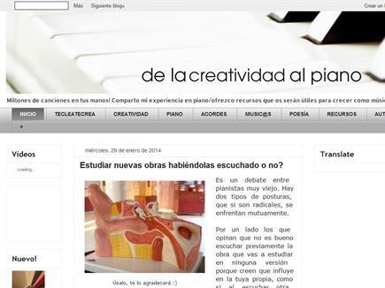 """El Blog """"De la Creatividad al Piano"""""""