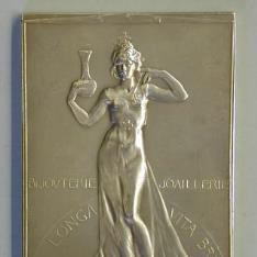 Medalla conmemorativa del cincuentanario del taller de orfebreria Wolfers