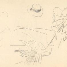 Figuras, barca y un sombrero