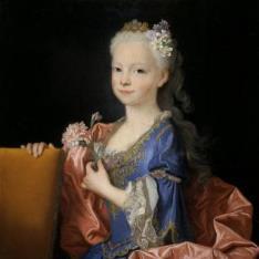María Ana Victoria de Borbón, niña (futura reina de Portugal)