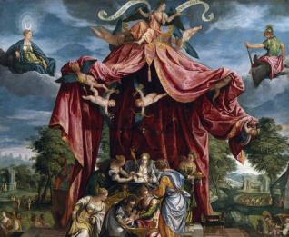 Alegoría del nacimiento del infante don Fernando, hijo de Felipe II