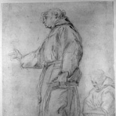 San Antonio de Padua y otro fraile / Cabeza masculina