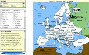 Capitals of Europe. Tutorial. Sheppard Software